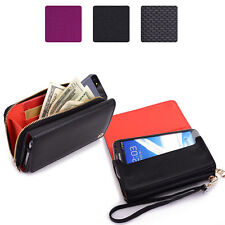 Designer Style Leather Phone Wallet Case Cover Pouch Clutch Purse Wrist Hand bag