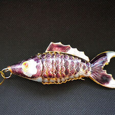Cloisonne a3-11 Multicolor deep blue tropical marine fish - ornaments fish gift