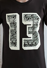 Lucky 13 T Shirt  - Thirteen Biker Vintage Retro Punk Rock Classic Motorcycle