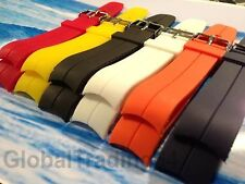 HIGHEST QUALITY CURVED END PU RUBBER DIVE WATCH STRAP 20mm, 22mm for/ROLEX