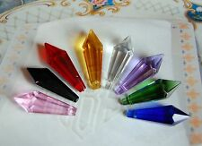Set of 6 Crystal Spear Jewelry pendant Chandelier Candlelier 38mm