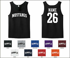 Mustangs Custom Personalized Name & Number Tank Top Jersey T-shirt