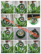 Lovely Chinese green jade Zodiac 12 Animal lucky pendant Necklace