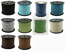 5 Meters Faux Suede Cord 3mm 10 colours available
