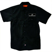 Loud-N-Fast Records White Logo Black Dickies Button Work Shirt , NEW