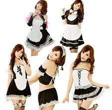 Ladies Sexy Naughty French Maid Fancy Dress Up Halloween Party Costume Outfit