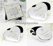 COMPACT Trinket Engraved Thank You Birthday WEDDING Keepsake Present GIFT Her