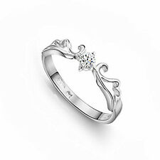 18k GP S925 Sterling Silver Angel's Wing Girl's Ring