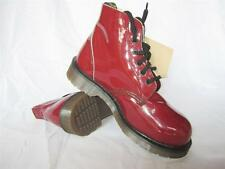 Vintage Dr. Martens Burgundy Patent Leather 6 Eye Boots UK 6 &10 MADE IN ENGLAND