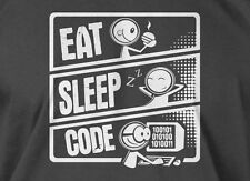 V3 Eat Sleep Code T-shirt Computer Programmer Mens Ladies Tee Funny Geek T-shirt
