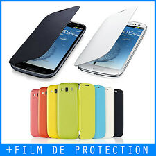 Coque, Housse, Case - Samsung Galaxy S3 i9300 - FLIP COVER - Film avant offert