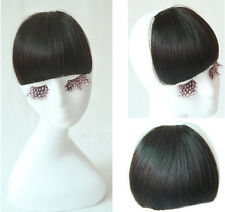 30g Virgin Human Hair Bangs Fringe Hairpiece Clip in/on Hair Extensions 4colors