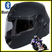 T27B BLACK FULL FACE MODULAR HELMET MOTORCYCLE BLUETOOTH HELMET DOT Dual Visor