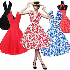 Maggie Tang 50s 60s Vintage Swing Rockabilly Retro Prom Party Dress Dots 504