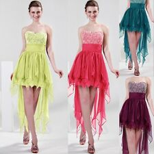 2013 Strapless High-Low Designed Bridal Cocktail Evening Prom Ball Party Dress