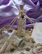 Beachcomber Message in a Bottle with Parchment, Charm, Shells & Sand