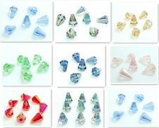 10pcs Faceted crystal glass Conical tower Loose beads 14*10mm U choose color