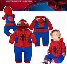 Baby Boy Spiderman Halloween Fancy Dress Party Costume Outfit Clothes 6-24M