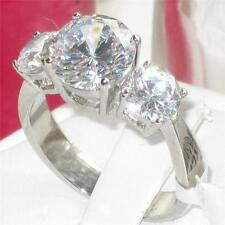 size J L N P R T  5 - 10 3Stone Engagement Ring 4.65ct Simulated Diamond LTK168E