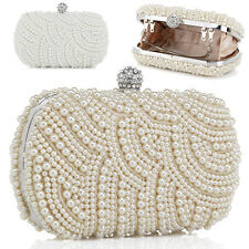 2013 Fashion Women Girl Charming Faux Pearl Beaded For Evening Party Clutch Bag
