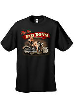 MEN'S BIKER T-SHIRT Toys for Big Boys AMERICAN CLASSIC MOTORCYCLE BABE S-4X 5X