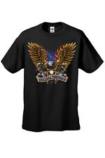 MEN'S BIKER T-SHIRT Rolling Thunder MOTORCYCLE EAGLE FLAMES LIGHTENING S-4X 5X