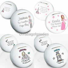 PERSONALISED Wedding Thank You Gift for Bridesmaid Flower Girl Usher Page Boy