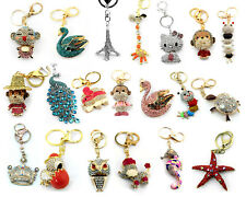 Crystal Gift Fashion Stylish Charm Car Purse Key Chain Ring Rhinestone