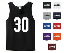 Number 30 Thirty Sports Number Jersey Tank Top Front Print