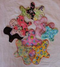 Washable reusable sanitary - menstrual pads with wings - PUL backed  MULTI-PACKS