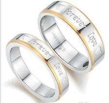 Womens Mens  Forever Love The Titanium Steel Ring Couple Rings GJ259