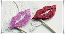 DIY Photo Booth Props For Wedding Party Photography- Lip With Glitter - 20 Piece
