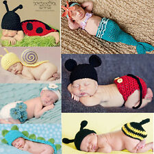 Baby Girl Boy Newborn 9M Knit Crochet Handmade Clothes Photo Prop Outfits