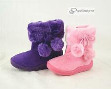 NEW BABY Girls Shoes Boots Suede Comfort Faux Fur Line Warm Winter Fringe Accent