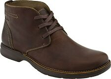 Mens Clarks Senner Ave Ankle Lace Up Boot Brown Tumbled Leather 66261