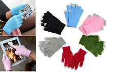 Mens Ladies Winter Warm knit Easy Click Touch Screen SmartPhone Magic Gloves