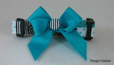 NEW! BLUE PATCHWORK Dog Collar Size XS-L by Doogie Couture