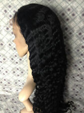 """4""""*5"""" silk top Deep Wave lace wig 100% indian remy human hair wigs 8""""-22"""""""