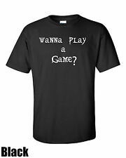 Wanna play a game?. Goth. BloodyTees. Premium T-shirt. Cotton Multi Size Color