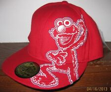 ELMO Sesame Street Fitted Baseball Style Hat Cap Elmo Embroidered Design