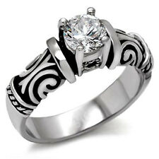 Tribal Irish Celtic Wedding Engagement Ring - Women Commitment Promise Ring Band