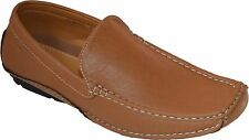 Men's Casual Leather Moccasins Loafer Slip On Driving Comfort Shoes - cow Camel