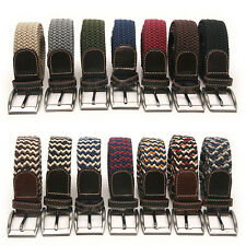 Elastic Cotton Stretch Braided Belt 17 Color Free P&P