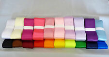 3 mm, 25 mm, 38 mm Satin Ribbon ~ 5 meters ~ 20 colour choices