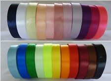 22 m of Satin Ribbon Various colours- various widths~ 20mm, 16mm, 12mm, 6mm