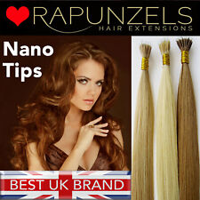 "20"" 1 gram nano tip remy human hair extensions, double thickness, nano ring bead"