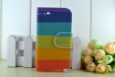 RainBow Colorful Magic leather Cover Case For Many Mobile Phones