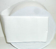 WHITE HIGH QUALITY ELASTIC 4 INCH 100MM WIDE, AVAILABLE IN DIFF LENGTHS