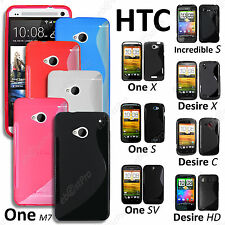 Housse Coque Etui S-Line Silicone Gel Htc One, One X / S / Sv, Desire X / C / Hd