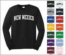 State of New Mexico College Letter Long Sleeve Jersey T-shirt